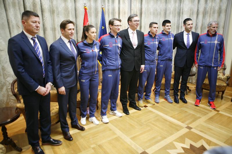 Сусрет премијера Вучића и министра Удовичића са српским атлетичарима