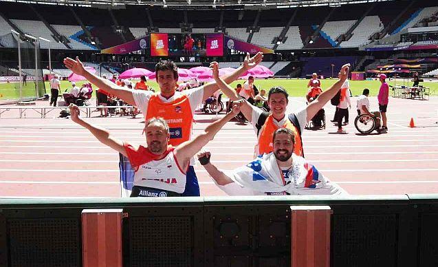 Министар Удовичић честитао пара атлетичарима Жељку Димитријевићу и Милошу Митићу освајање медаља на Светском првенству у пара атлетици у Лондону