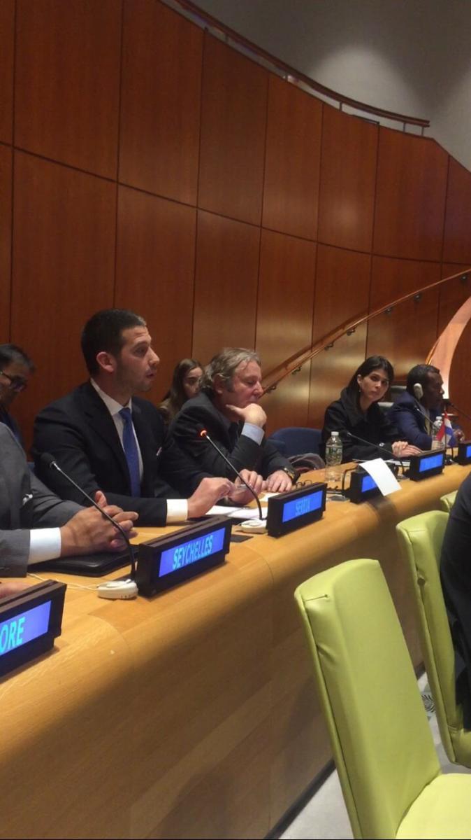 Обраћање министра Удовичића на 7. ЕCOSOC омладинском форуму УН у Њујорку