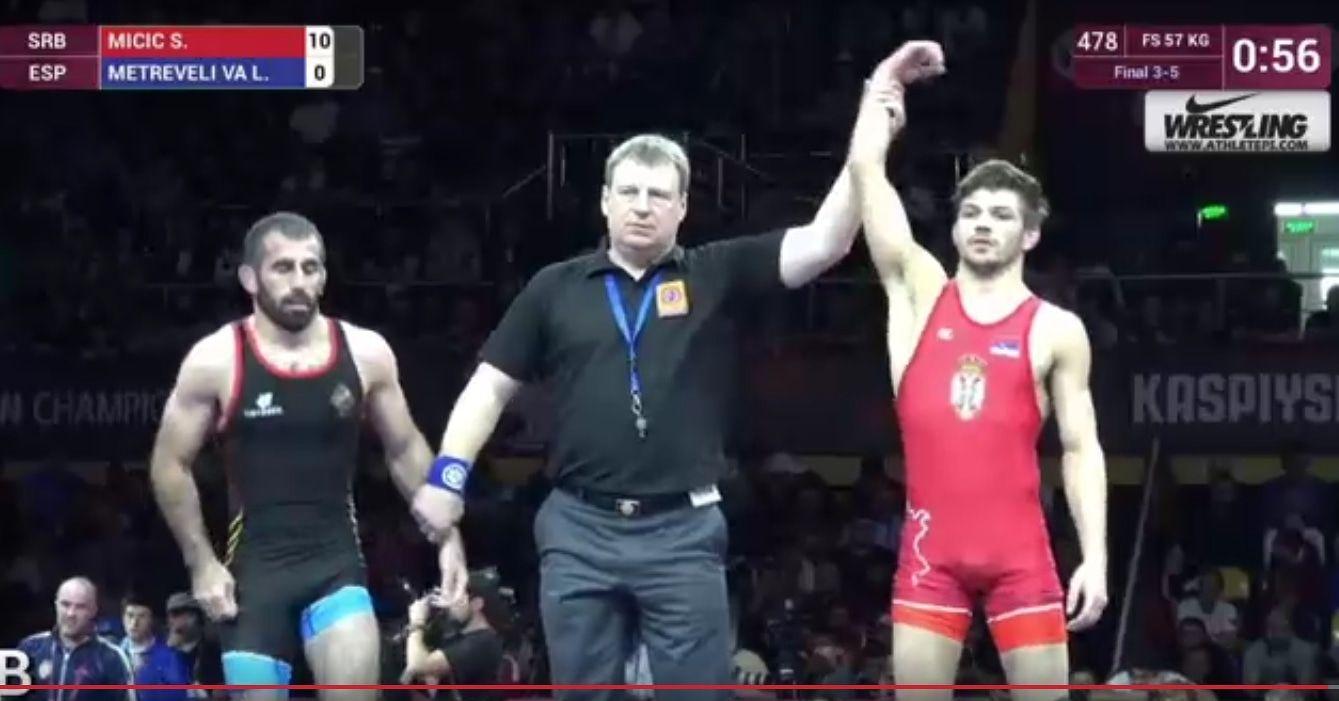 Mинистар Удовичић честитао Стевану Мићићу освојену бронзану медаљу