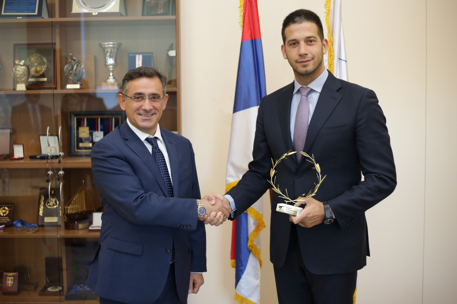 Министар Удовичић се састао са председником Европске теквондо федерације